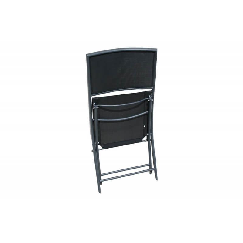 Chaise Pliante En Aluminium Et Textilne Noir