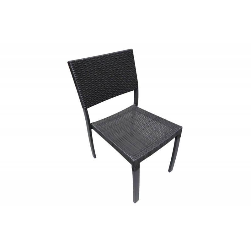 chaise aluminium et r sine tress e gris anthracite le r ve chez vous. Black Bedroom Furniture Sets. Home Design Ideas