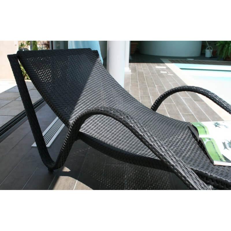 bain de soleil luxe liberte aluminium et r sine tr ss e coloris noir le r ve chez vous. Black Bedroom Furniture Sets. Home Design Ideas