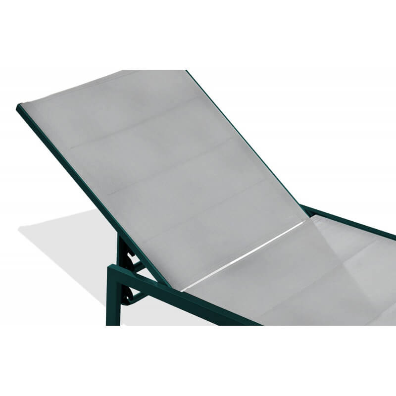 Bain de soleil gris multi positions le r ve chez vous for Chaise longue de soleil