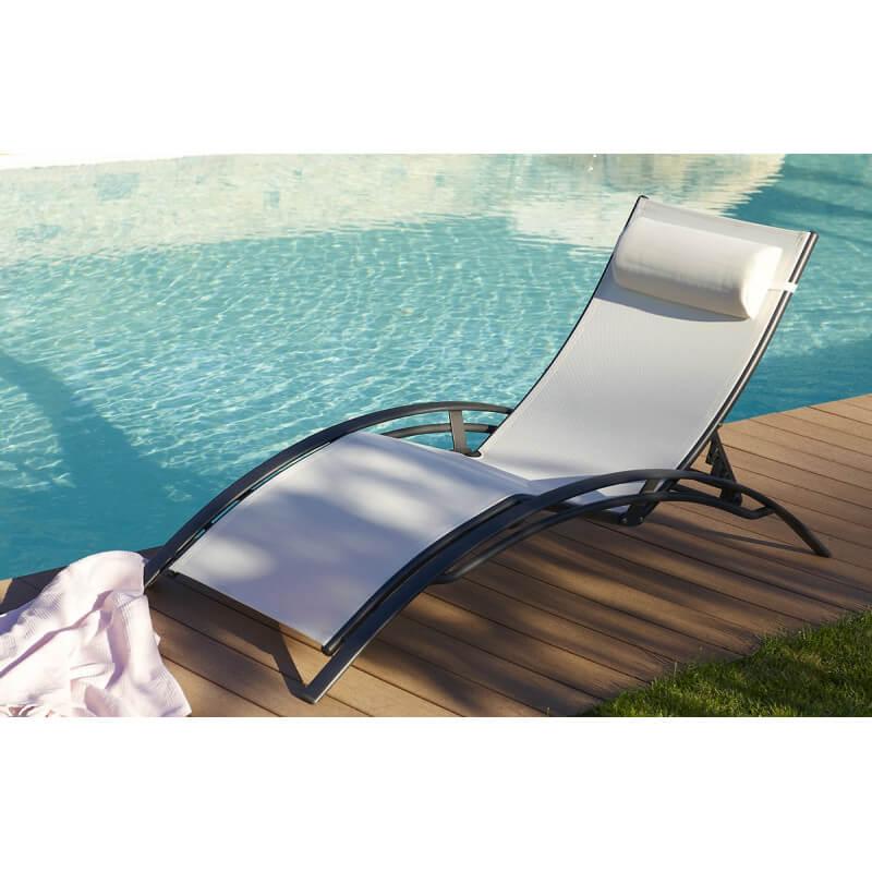 bain de soleil multi positions noir et blanc le r ve. Black Bedroom Furniture Sets. Home Design Ideas