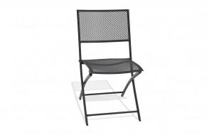Chaise pliante de jardin en acier perforé