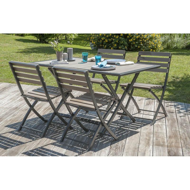 Salon de jardin mobilier de jardin design le r ve chez for Table et chaises pliantes