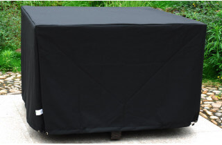 Housse de protection noire pour table 105x105 cm
