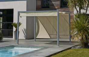 Pergola design tonnelle aluminium brise soleil 3x3m