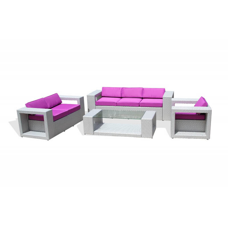 awesome salon de jardin pvc gris contemporary awesome. Black Bedroom Furniture Sets. Home Design Ideas