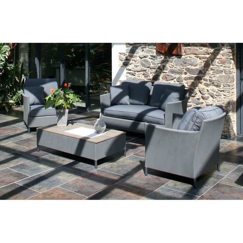 salon de jardin 4 places avec coussins violets le r ve chez vous. Black Bedroom Furniture Sets. Home Design Ideas