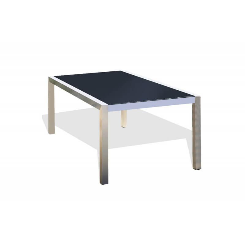 salon de jardin aluminium et verre noir. Black Bedroom Furniture Sets. Home Design Ideas