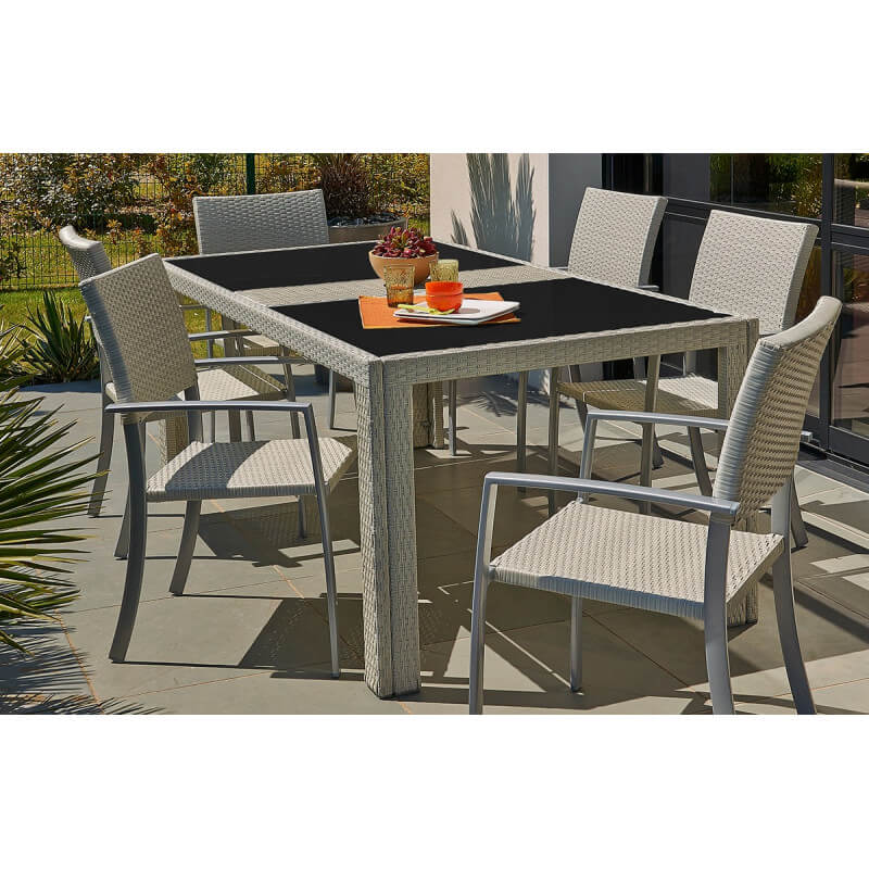 Mobilier de jardin chez centrakor for Leroy merlin table jardin