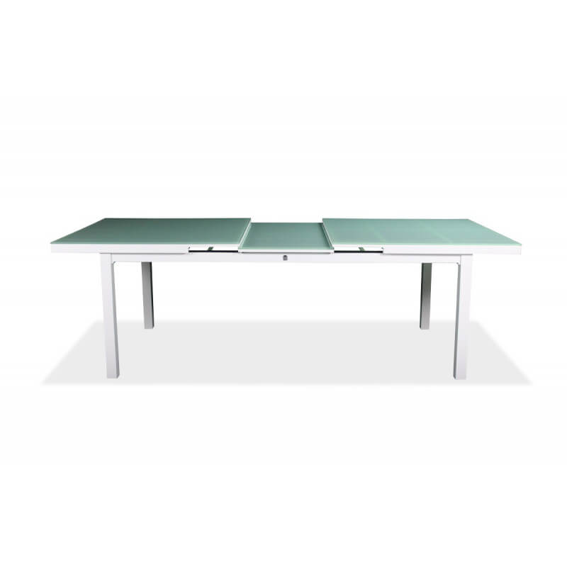 Table de jardin avec rallonge en verre des id es int ressante - Table rallonge integree ...
