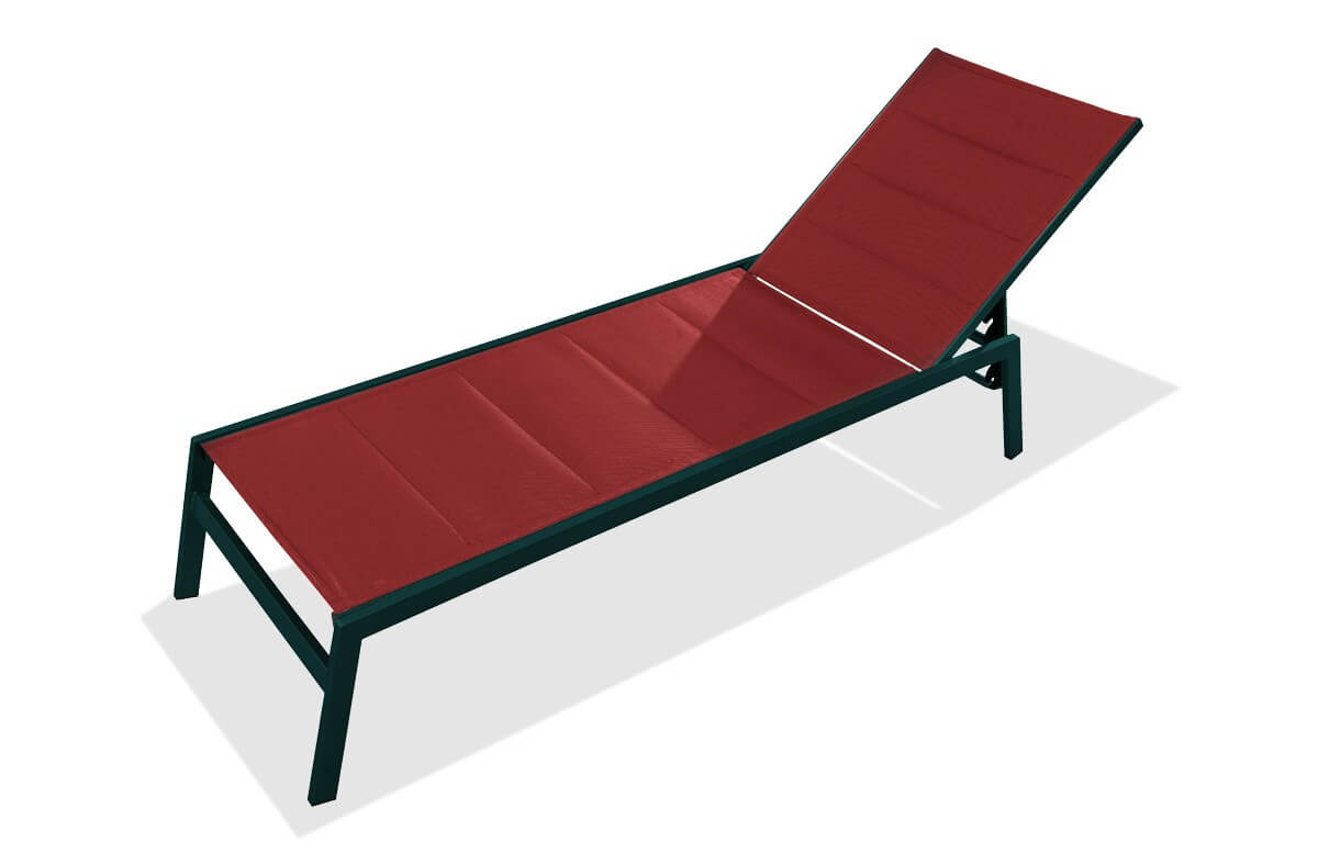 Bain de soleil chaise longue PACIFIC corail