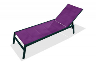Bain de soleil chaise longue PACIFIC prune