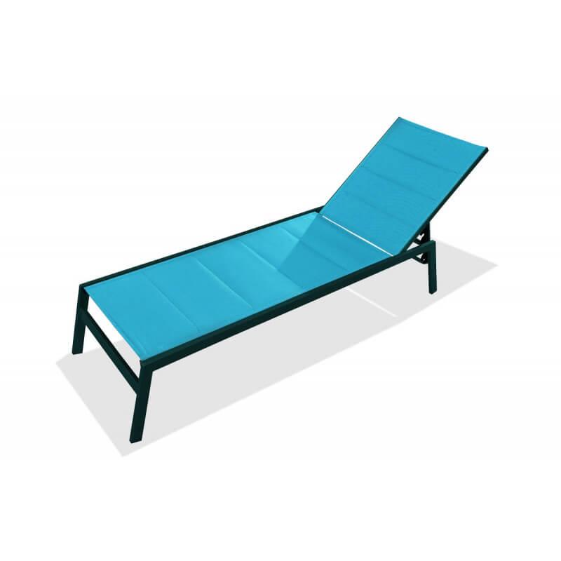 Bain de soleil chaise longue turquoise le r ve chez vous for Bain de soleil chaise longue
