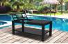 Table basse de jardin noire 120 x 70 cm