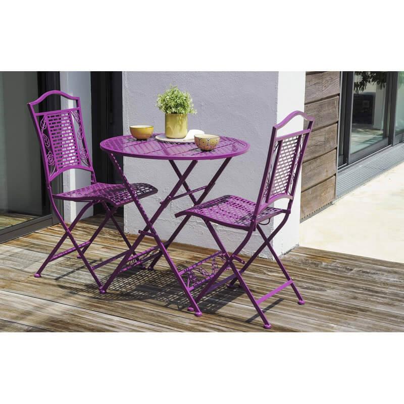 Ensemble gu ridon avec 2 chaises pliantes le r ve chez vous - Canape arc de cercle ...