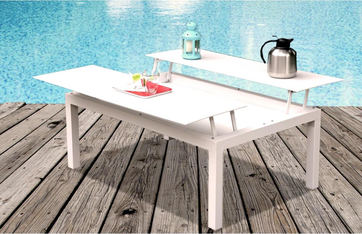 Table basse de jardin 120 x 80 cm