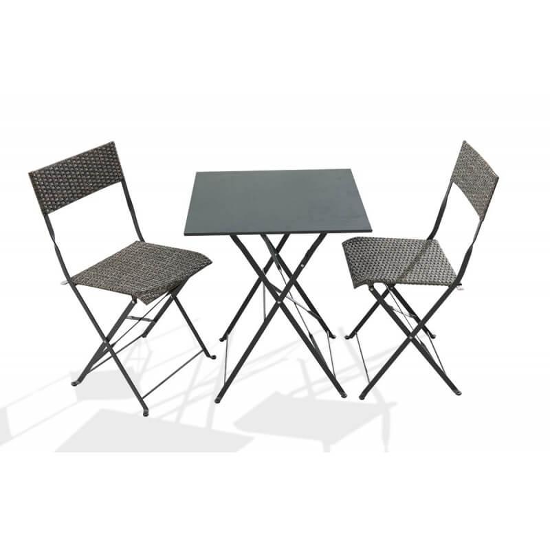 stunning table de jardin pliante resine tressee contemporary. Black Bedroom Furniture Sets. Home Design Ideas