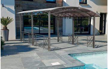 Pergola design CARPORT rectangulaire avec toit rigide