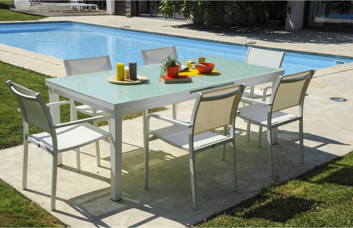 Ensemble table et 6 fauteuils