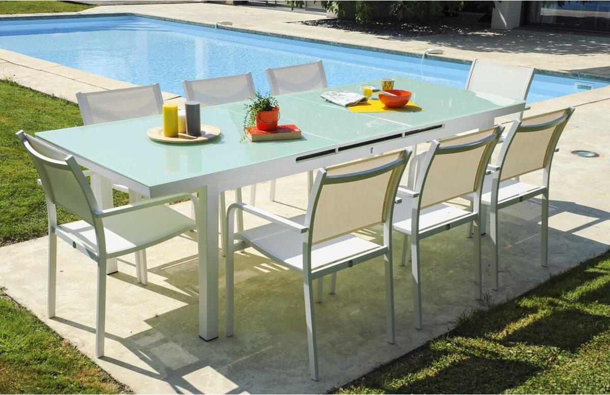 Ensemble table et 8 fauteuils