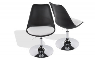 Chaise Design STONE noir/blanc