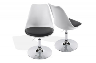 Chaise Design STONE blanc/noir