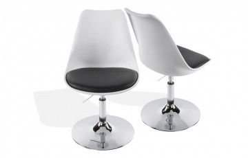 Chaise Design Blanc/Noir
