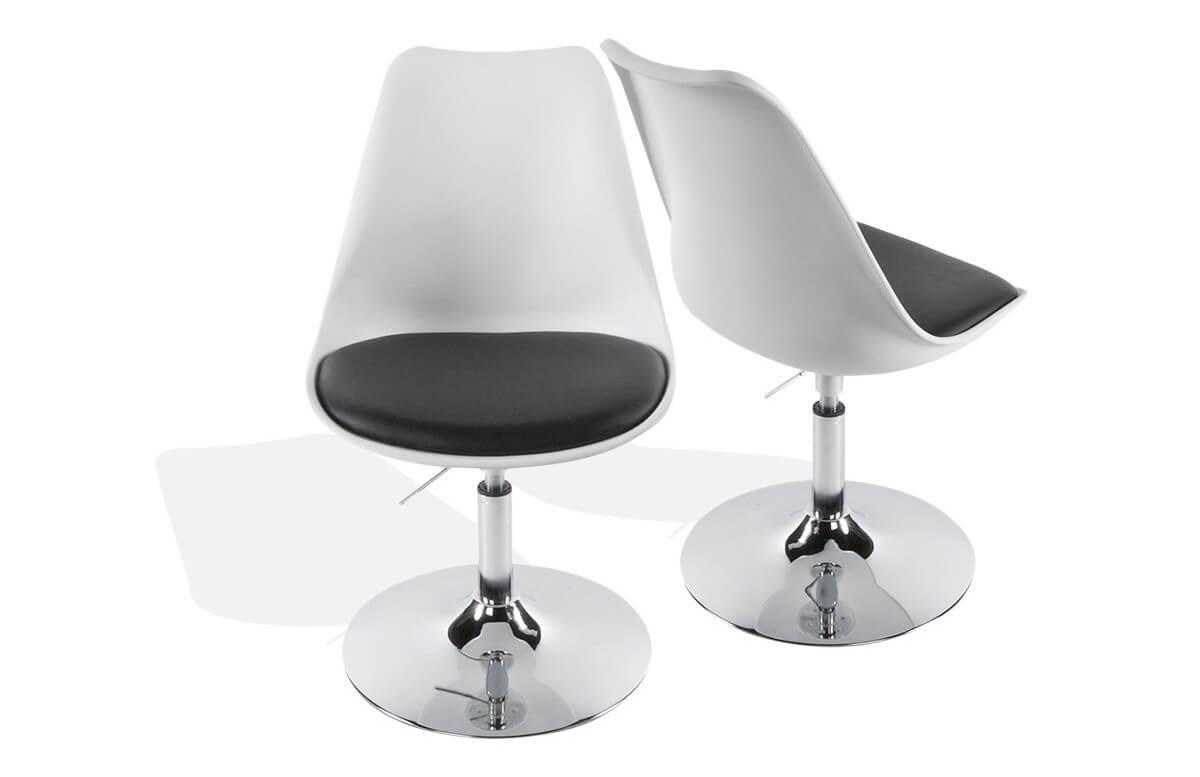Chaise Design Blanc/Noir