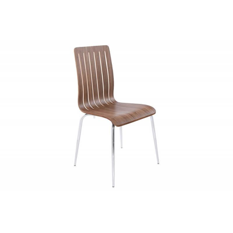 Chaise moderne en bois couleur noyer le r ve chez vous for Chaise moderne couleur