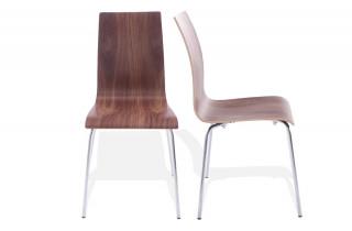 Chaise Design NATURAL Noix foncé