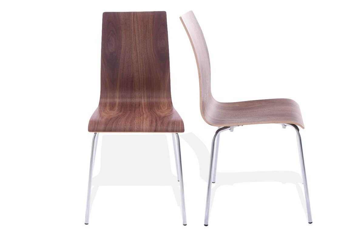 Chaise Design noix foncé