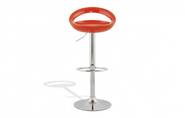 Tabouret de bar Design SATURN orange