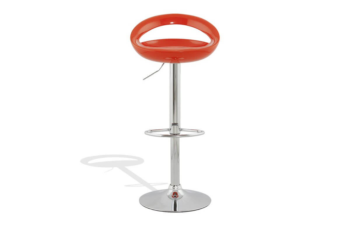 Tabouret de bar design orange