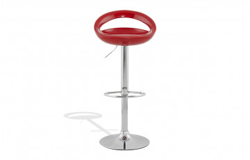 Tabouret de bar Design SATURN rouge