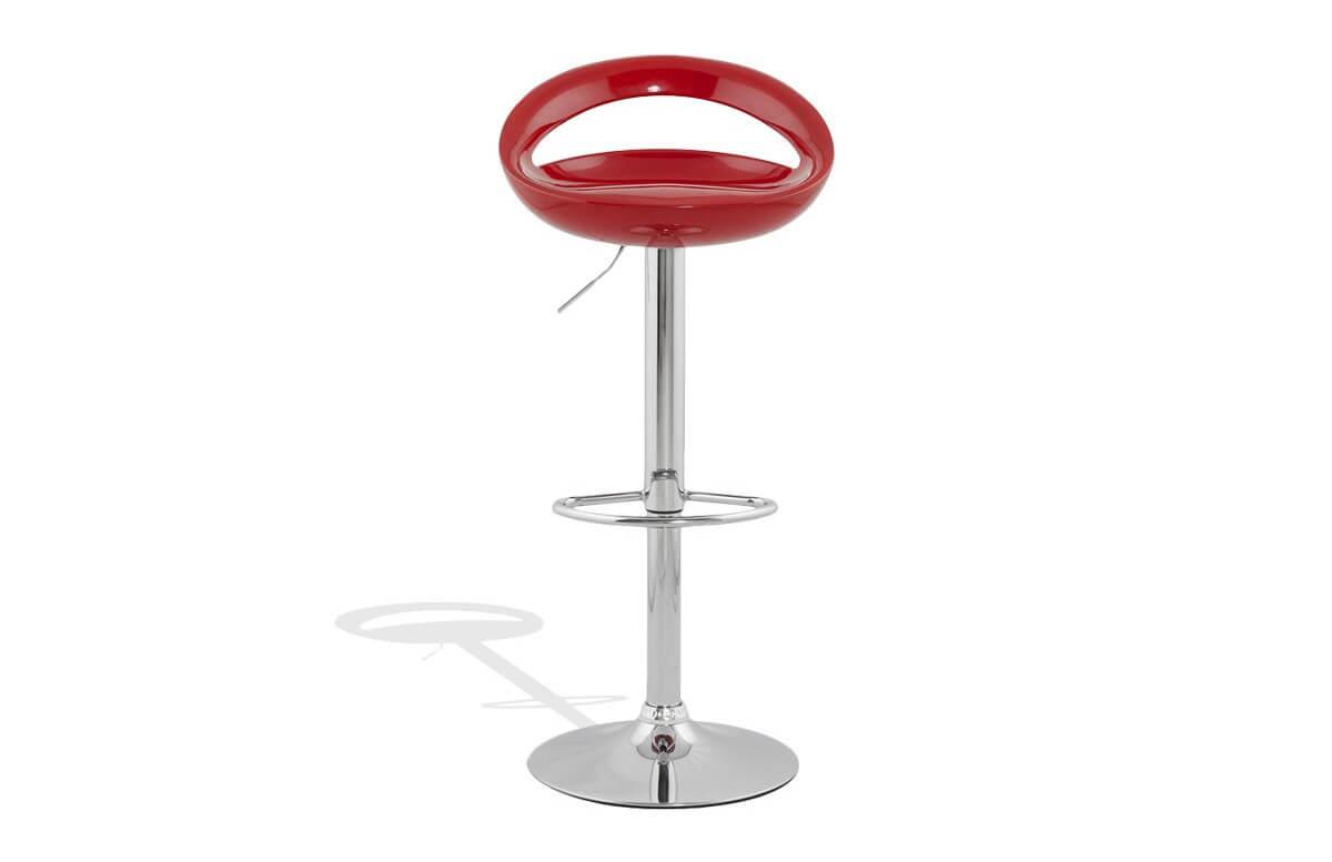 Tabouret de bar Design SATURN rouge