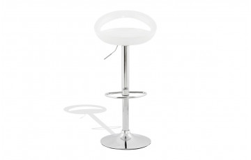 Tabouret de bar Design SATURN blanc