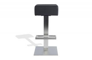 Tabouret carré Design de bar SQAURE noir