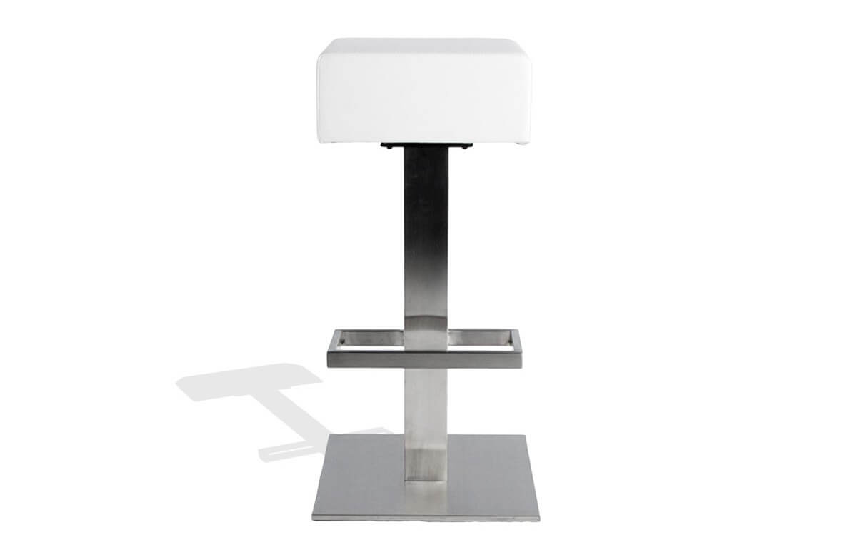 Tabouret carré design de bar blanc