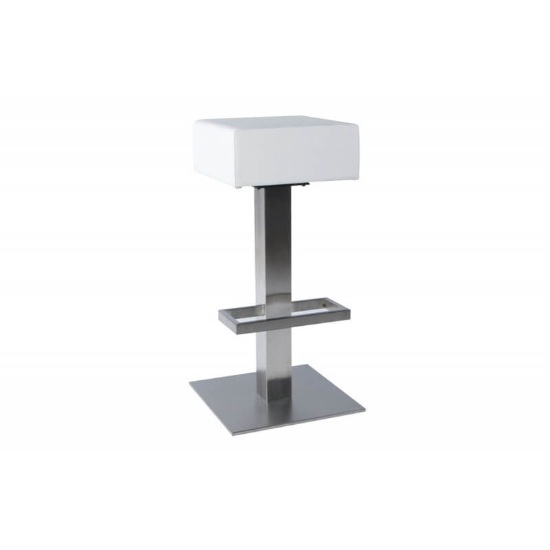 tabouret carr design de bar blanc le r ve chez vous. Black Bedroom Furniture Sets. Home Design Ideas