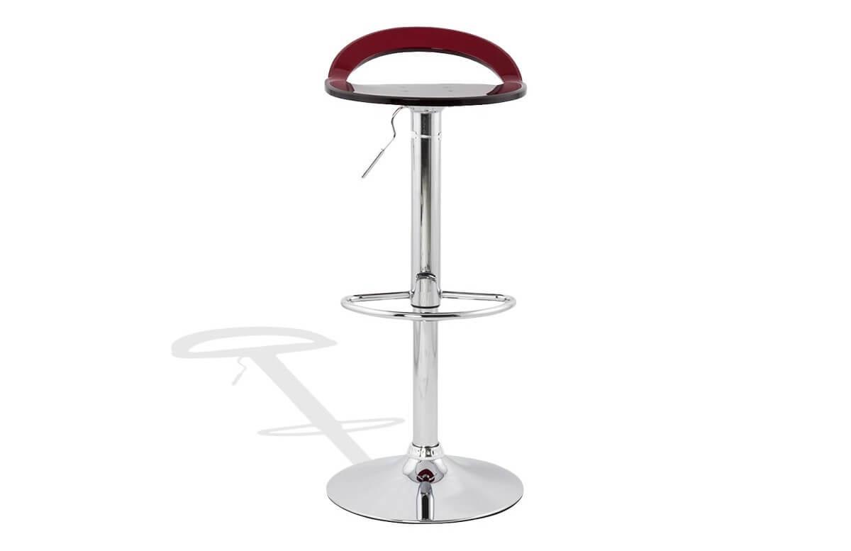 Tabouret de bar Design ZOOM rouge