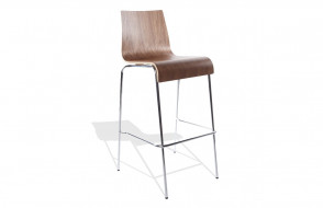 Tabouret chaise de bar TRENDS noyer