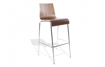 Tabouret chaise de bar noyer