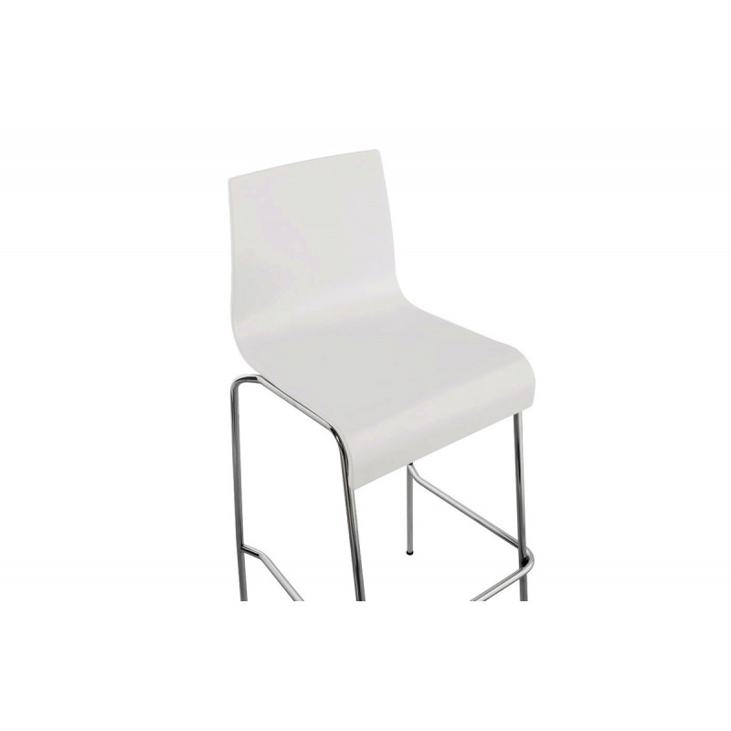 tabouret chaise de bar blanc le r ve chez vous. Black Bedroom Furniture Sets. Home Design Ideas