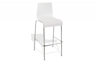 Tabouret chaise de bar TRENDS blanc