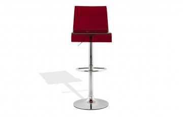 Tabouret de bar Design OSCAR rouge