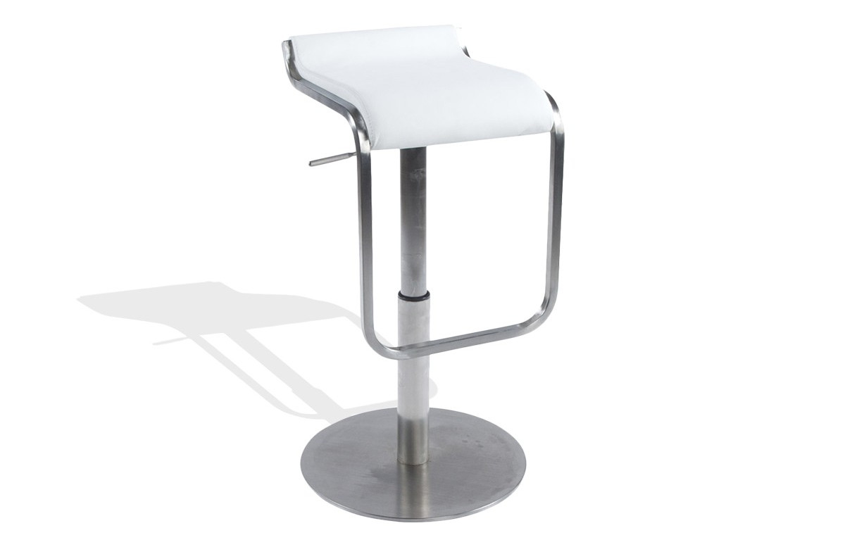Tabouret de bar Design ROB blanc