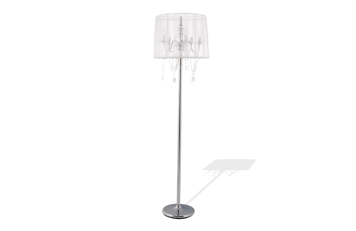 Lampadaire Design BAROK blanc