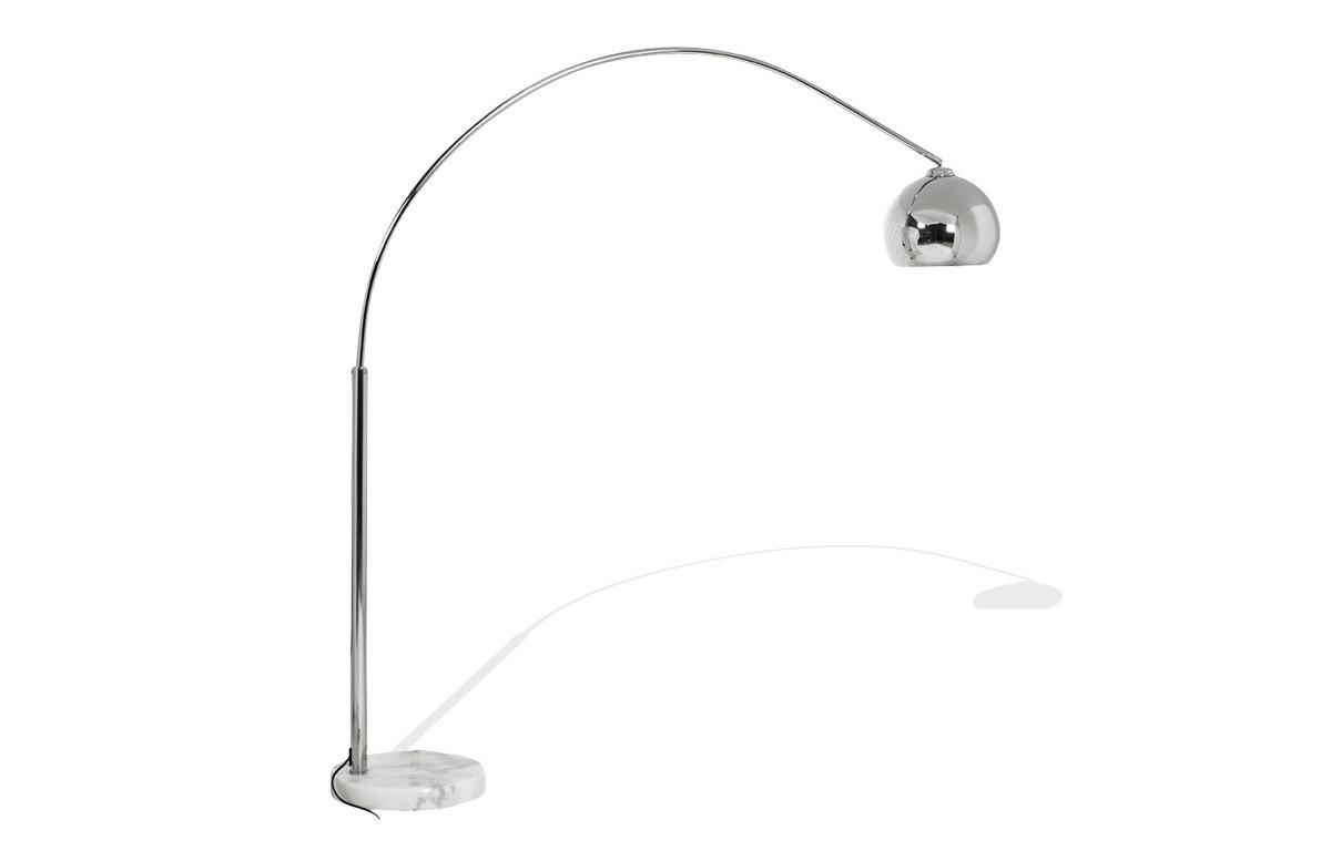 Lampadaire design chrome
