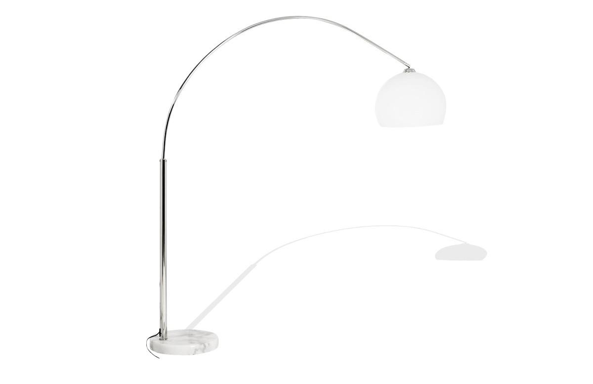 Lampadaire design blanc