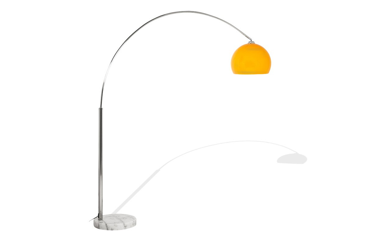 Lampadaire Design ARC orange